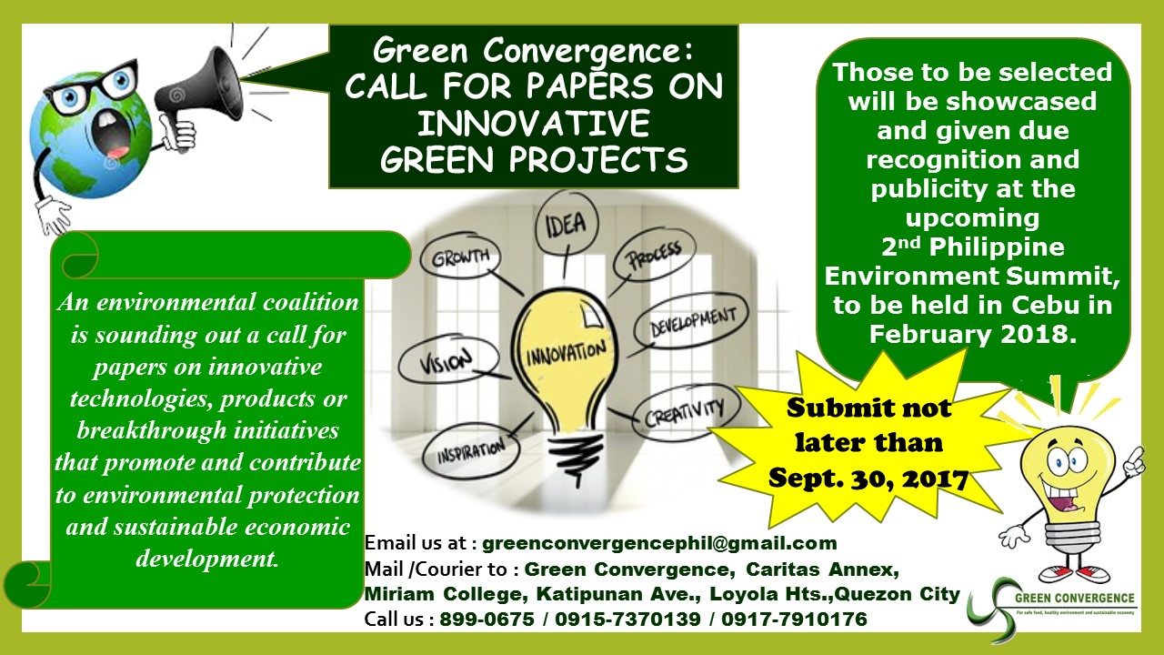 CALL FOR PAPERS ON INNOVATIVE GREEN PROJECTS