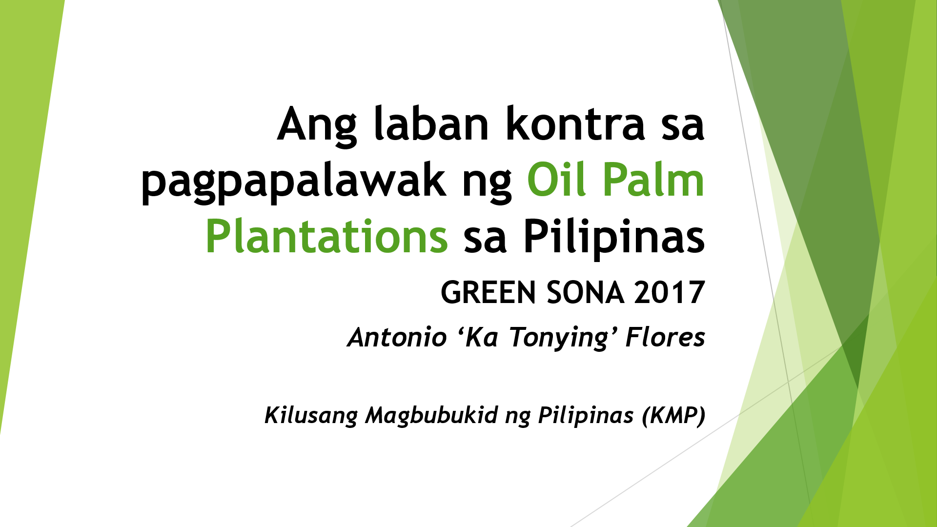 Palm Oil Expansion In The Philippines