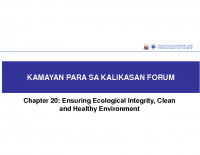 PDP Ch20_Ecological Integrity by Ms. Carygine Isaac, Jan 20, 2017